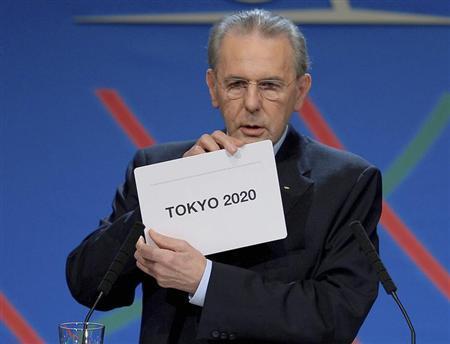 9月7日、国際オリンピック委員会(IOC)総会は、2020年夏季五輪の開催都市を東京に決定した。写真はIOCロゲ会長。代表撮影(2013年 ロイター)