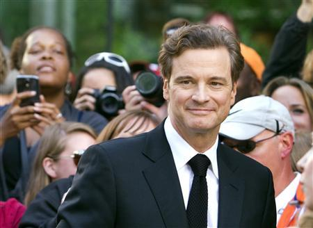 British actor Colin Firth arrives for the film premiere of ''Railway Man'' at the 38th Toronto International Film Festival in Toronto September 6, 2013. REUTERS/Fred Thornhill