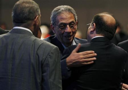 Egyptian opposition leader Amr Moussa, who is a former Arab League secretary-general and Egyptian foreign minister, attends the World Economic Forum on the Middle East and North Africa at the King Hussein Convention Centre at the Dead Sea May 25, 2013. REUTERS/Muhammad Hamed