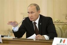 Presidente russo Vladimir Putin é visto durante início da cúpula do G20, em São Petersburgo, na Rússia. Putin ordenou nesta segunda-feira a agências de inteligência que intensifiquem esforços para melhorar a segurança de um região volátil próxima à sede da Olimpíada de Inverno marcada para o próximo ano, dizendo que a situação não estava melhorando rápido o suficiente. 05/09/2013 REUTERS/Pablo Martinez