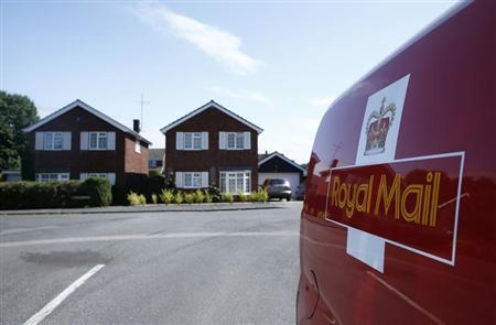 A Royal Mail van is seen in Longwick, southern England July 10, 2013. REUTERS/Eddie Keogh