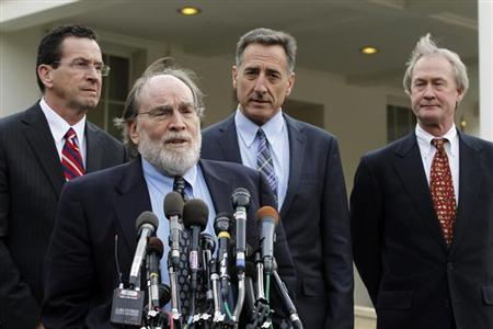 Newly elected Hawaii Governor Neil Abercrombie speaks to the media alongside other Governors-elect outside the West Wing of the White House in Washington, December 2, 2010. REUTERS/Jason Reed