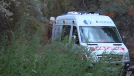 An ambulance is seen along a road where a Japanese tourist identified as Mai Kurkiharac was killed and another identified as Hoshie Teramatsu was wounded, near Zemi Valley in Goreme district in the central Anatolian town of Nevsehir, on September 9, 2013 in this still image taken from video provided by DHA. REUTERS/DHA via Reuters TV/Handout