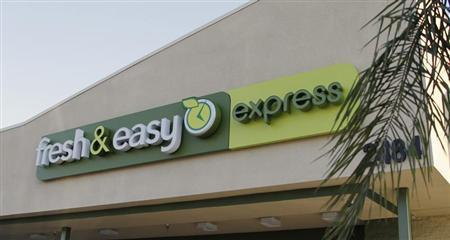 The signage of a Fresh & Easy Express food market is pictured in Burbank, California October 17, 2012. REUTERS/Fred Prouser