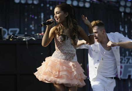 Ariana Grande performs at the 2013 Wango Tango concert at the Home Depot Center in Carson, California May 11, 2013. REUTERS/Danny Moloshok