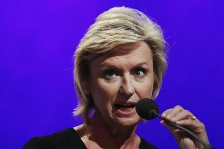 Tina Brown, editor-in-chief of The Daily Beast and Newsweek, speaks during the Clinton Global Initiative in New York, September 22, 2011. REUTERS/Lucas Jackson