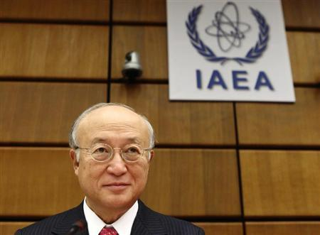 International Atomic Energy Agency (IAEA) Director General Yukiya Amano waits for a board of governors meeting to begin at the IAEA headquarters in Vienna September 9, 2013. REUTERS/Heinz-Peter Bader