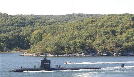 The Los Angeles-class attack submarine USS Providence (SSN 719) transits the Thames River as it departs Naval Submarine Base New London for a six-month deployment in Groton, Connecticut in this file photo taken on October 8, 2010, and released to Reuters on March 19, 2011 file photo.REUTERS/Timothy E. Walter/U.S. Navy photo/Handout