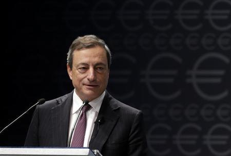 European Central Bank President Mario Draghi speaks during the Euro Conference Latvia 2013 in Riga September 12, 2013. REUTERS/Ints Kalnins