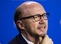 """Director Paul Haggis speaks during the """"Third Person"""" news conference at the 38th Toronto International Film Festival in Toronto, September 10, 2013. REUTERS/Mark Blinch"""