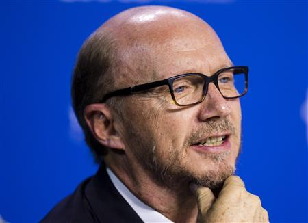 Director Paul Haggis speaks during the ''Third Person'' news conference at the 38th Toronto International Film Festival in Toronto, September 10, 2013. REUTERS/Mark Blinch