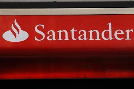 Signage for Santander bank in London February 14, 2012. REUTERS/Luke MacGregor/Files