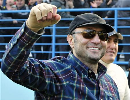 Dagestani born tycoon Suleiman Kerimov watches a soccer match between Anzhi and CSKA in Makhachkala December 2, 2012. REUTERS/Sergei Rasulov/ NewsTeam
