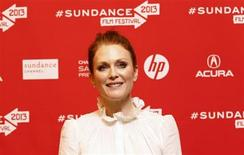 "Cast member Julianne Moore poses at the premiere of ""Don Jon's Addiction"" during the Sundance Film Festival in Park City, Utah January 18, 2013. REUTERS/Mario Anzuoni"