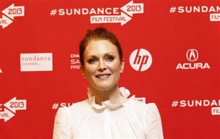 Cast member Julianne Moore poses at the premiere of ''Don Jon's Addiction'' during the Sundance Film Festival in Park City, Utah January 18, 2013. REUTERS/Mario Anzuoni