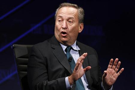Larry Summers, U.S. National Economic Council Director, gestures as he speaks about the global economic power shift away from the developed nations of the West and towards the newly industrialized nations of the East and South, at the 2010 meeting of the Wall Street Journal CEO Council in Washington November 15, 2010. REUTERS/Hyungwon Kang