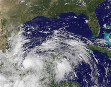 Tropical Storm Ingrid is seen in this NOAA GOES-East satellite image captured at 11:55 a.m. EDT (15:55 GMT) on September 13, 2013. REUTERS/NASA/GOES Project/Handout via Reuters