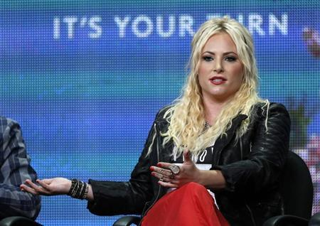 Meghan McCain, daughter of U.S. Senator John McCain, and executive producer and host of the television show ''Raising McCain'' speaks during the Pivot television portion of the Television Critics Association Summer press tour in Beverly Hills, California July 26, 2013. REUTERS/Mario Anzuoni