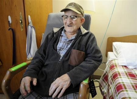 Salustiano Sanchez, 112, the world's oldest man according to Guinness World Records, resides in a retirement home on Grand Island, New York, July 30, 2013. REUTERS/Doug Benz