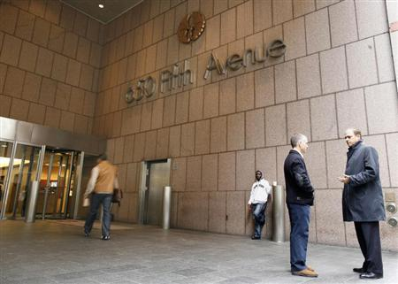 The main entrance of 650 Fifth Avenue in the midtown Manhattan section of New York, November13, 2009. REUTERS/Brendan McDermid
