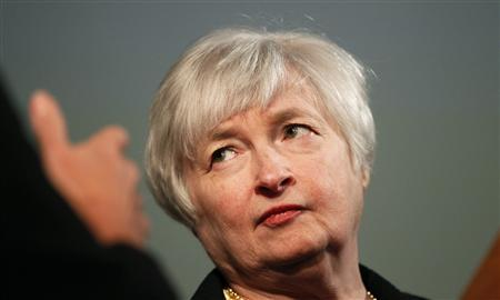 Janet Yellen, vice chair of the Board of Governors of the U.S. Federal Reserve System, is shown prior to addressing the University of California Berkeley Haas School of Business in Berkeley, California in this file photo from November 13, 2012. REUTERS/Robert Galbraith/Files