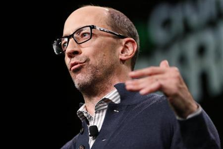 Dick Costolo, Chief Executive Officer of Twitter, speaks on stage during the TechCrunch Disrupt SF 2013 technology conference in San Francisco, California September 9, 2013. REUTERS/Stephen Lam