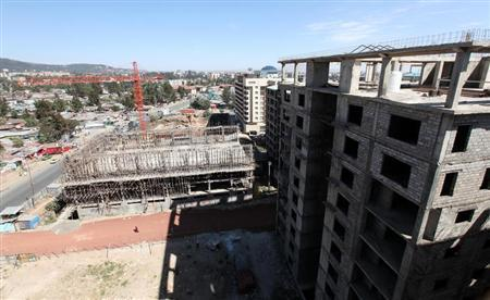 An apartment construction site is seen in Ethiopia's capital Addis Ababa January 27, 2010. REUTERS/Thomas Mukoya