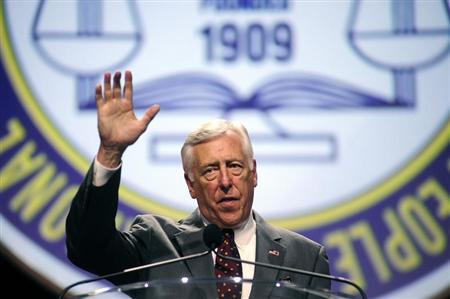 U.S. Congressman Steny Hoyer (D-MD) speaks to the 2013 National Association for the Advancement of Colored People (NAACP) convention in Orlando, Florida July 15, 2013. REUTERS/David Manning
