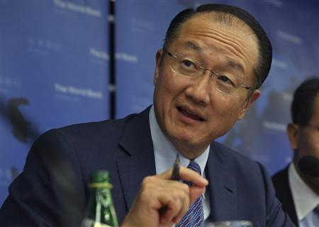 World Bank President Jim Yong Kim gestures during a press conference held in Beijing, September 18, 2013. REUTERS/China Daily