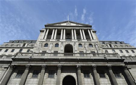 The Bank of England is seen in the City of London August 7, 2013. REUTERS/Toby Melville