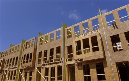 New townhouses under construction are seen in Fairfax, Virginia, just outside of the capital Washington, September 1, 2013. REUTERS/Larry Downing