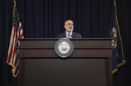 U.S. Federal Reserve Board Chairman Ben Bernanke holds a news conference following the Fed's two-day Federal Open Market Committee (FOMC) meeting in Washington September 18, 2013. REUTERS/Gary Cameron