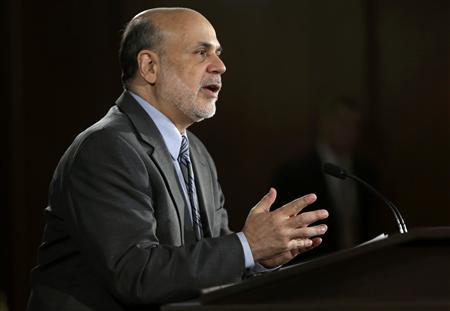 U.S. Federal Reserve Board Chairman Ben Bernanke addresses a news conference following the Fed's two-day Federal Open Market Committee (FOMC) meeting in Washington September 18, 2013. REUTERS/Gary Cameron