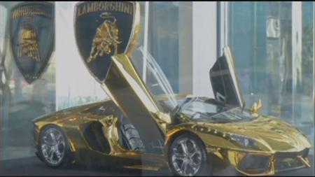 ランボルギーニ純金模型