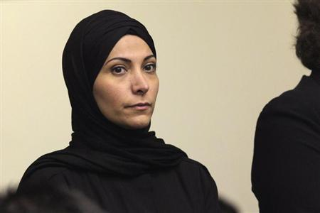 Saudi Princess Meshael Alayban, 42, appears for arraignment at the Orange County Superior Court in Santa Ana, California September 20, 2013. REUTERS/Nick Ut/Pool