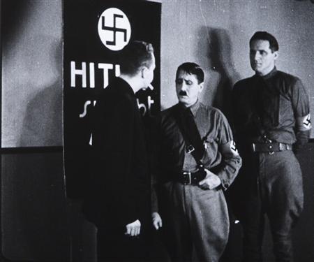 A scene from the 1934 U.S. anti-Nazi film ''Hitler's Reign of Terror'', by director Cornelius Vanderbilt, is seen in this handout photo by Belgian cinema library (Cinematheque Royale de Belgique). REUTERS/D.R./Handout via Reuters