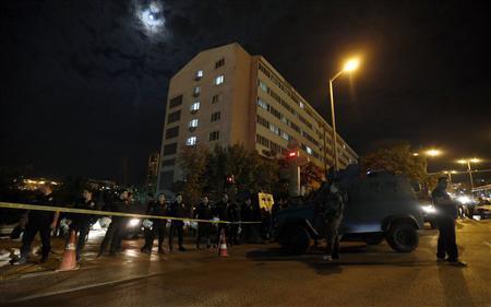 Policemen secure a police compound in Ankara September 20, 2013. REUTERS/Umit Bektas