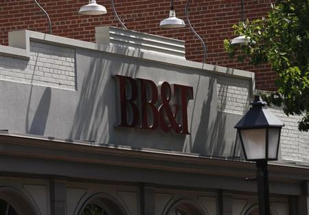 A BB&T bank is pictured in Alexandria, Virginia July 22, 2010. BB&T Corp. shares were lower after the bank came in with higher profit but fell short of earnings forecasts. REUTERS/Molly Riley