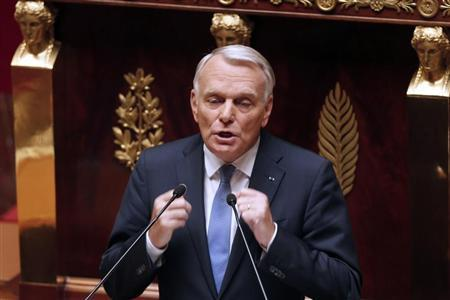 France's Prime Minister Jean-Marc Ayrault delivers his speech during a parliamentary debate on Syria at the National Assembly in Paris, September 4, 2013. REUTERS/Charles Platiau
