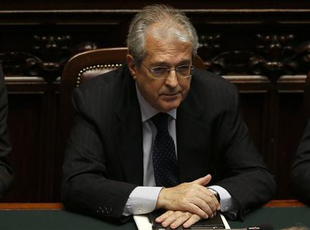 New Italian Economy Minister Fabrizio Saccomanni attends at the Lower house of the parliament in Rome, April 29, 2013. REUTERS/ Alessandro Bianchi