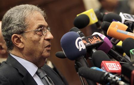 Amr Moussa, chairman of the committee to amend the country's constitution speaks at a news conference at the Shura Council in Cairo September 22, 2013. REUTERS/Mohamed Abd El Ghany
