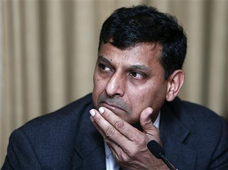Reserve Bank of India (RBI) Governor Raghuram Rajan listens to a question during a news conference after the mid-quarter monetary policy review at the RBI headquarters in Mumbai September 20, 2013. REUTERS/Danish Siddiqui