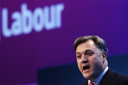 Britain's shadow chancellor Ed Balls arrives to make his speech to the Labour party's annual conference in Brighton, southern England September 23, 2013. REUTERS/Luke MacGregor