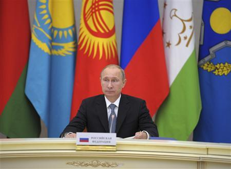 Russian President Vladimir Putin takes part in a meeting of leaders of the Collective Security Treaty Organisation (CSTO) in Sochi September 23, 2013. REUTERS/Alexey Druzhinin/RIA Novosti/Kremlin