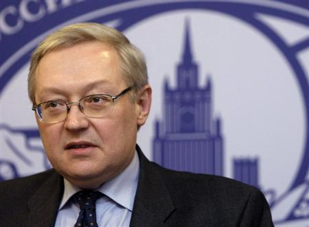 Russia's Deputy Foreign Minister Sergei Ryabkov speaks during a news briefing in the main building of Foreign Ministry in Moscow, in this file photo taken December 15, 2008. REUTERS/Denis Sinyakov