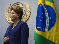 Presidente Dilma Rousseff fotografada antes de seu discurso de abertura da Assembleia-Geral da ONU, em Nova York. Dilma aproveitou seu discurso para fazer um apelo por um esforço pelo crescimento econômico mundial nesta terça-feira. 24/09/2013. REUTERS/Eric Thayer