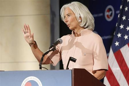 International Monetary Fund Managing Director Christine Lagarde answers questions from the audience after remarks during a Peterson Institute for International Economics forum at the U.S. Chamber of Commerce in Washington, September 19, 2013. REUTERS/Jonathan Ernst