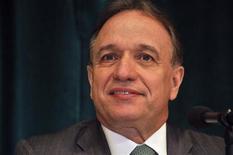 Murilo Ferreira, presidente da Vale, durante coletiva de imprensa no ano passado, em Nova York. Nesta terça-feira o presidente da companhia disse que a mineradora pode vender mais ativos este ano. 03/12/2012 REUTERS/Barani Krishnan