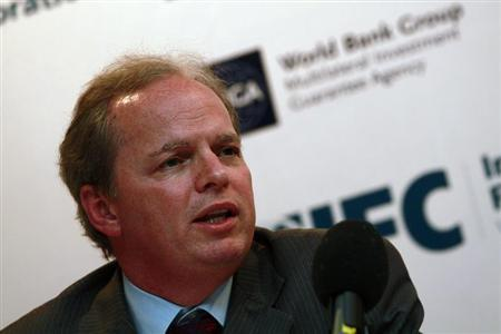 Axel van Trotsenburg, World Bank's Vice President for East Asia and Pacific Region talks to the media during a news conference in Yangon, February 5, 2013. REUTERS/Minzayar