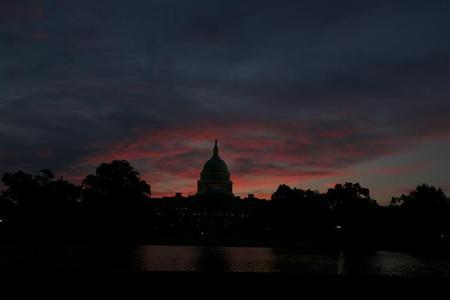 The U.S. Capitol Building in Washington is pictured before sunrise September 16, 2013. REUTERS/Jason Reed